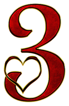 Number 3-heart
